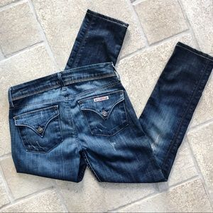 Hudson Skinny Jeans 26 Flap Pockets